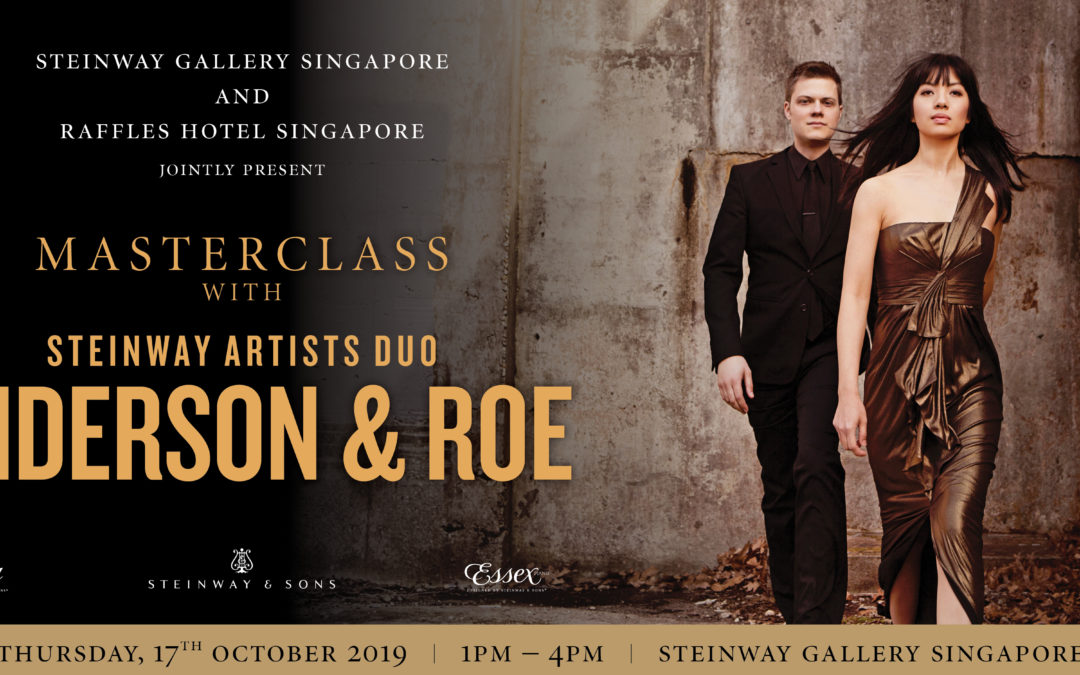 17 October 2019 – Masterclass with Steinway Artists Duo, Anderson & Roe featuring Steinway's latest innovation Steinway Spirio   r