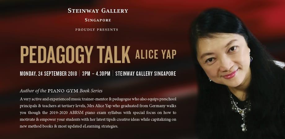24th September – Pedagogy Talk by Alice Yap