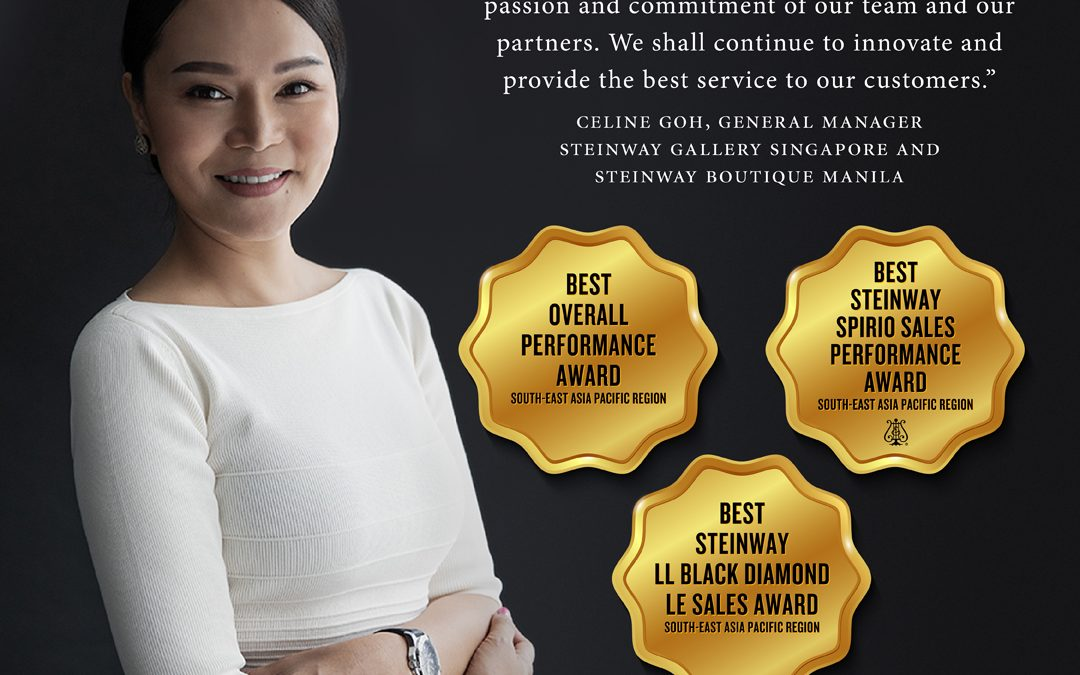 SINGAPORE and MANILA won 3 TOP AWARDS at the STEINWAY ASIA PACIFIC 2019 BUSINESS EXCELLENCE AWARDS