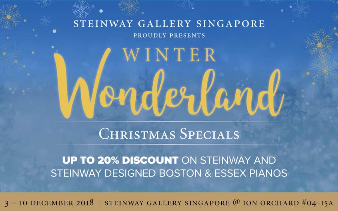2nd – 10th December: Steinway Gallery Winter Wonderland Christmas Specials
