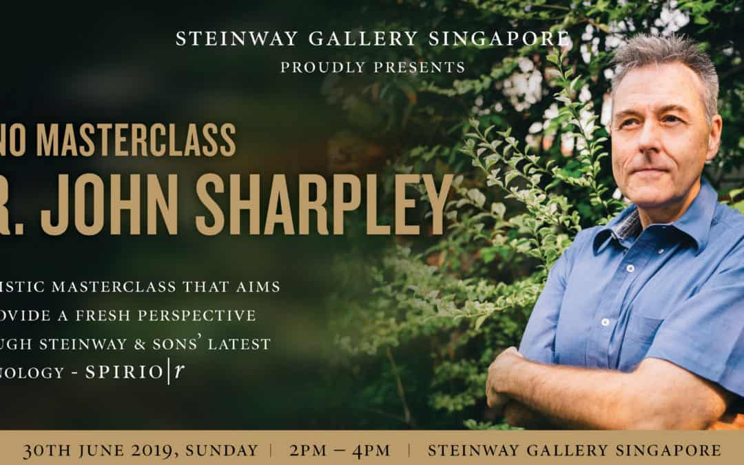 30 June 2019 – Masterclass with Dr John Sharpley featuring Steinway's latest innovation Steinway Spirio | r