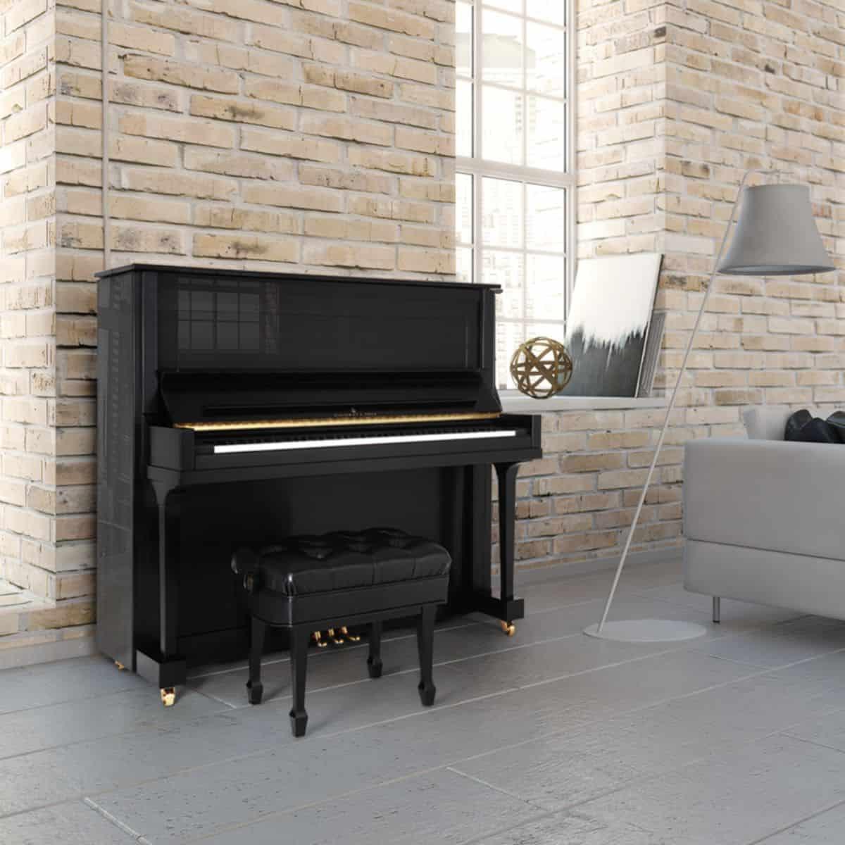 Model K 52 Retouched NY Piano In Brick Studio Square