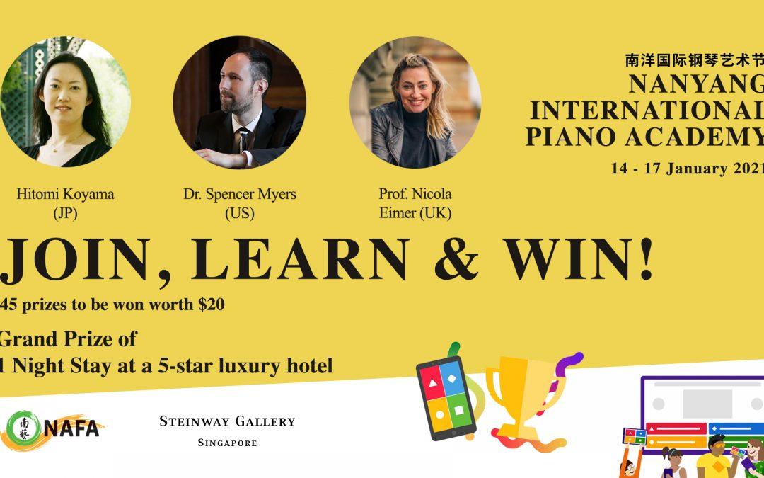 14 to 17 Jan 2021 – Nanyang International Piano Academy