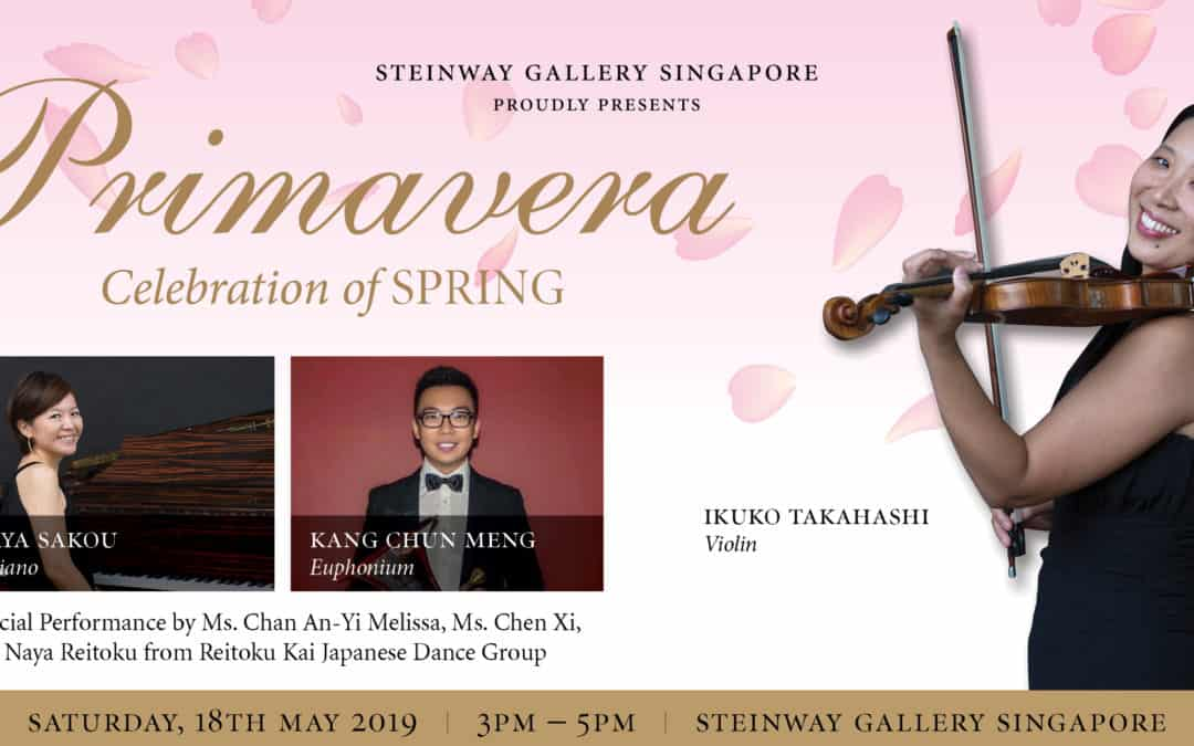 18 March 2019 – Primavera featuring Ikuko Takahashi, Aya Sakou and Kang Chun Meng