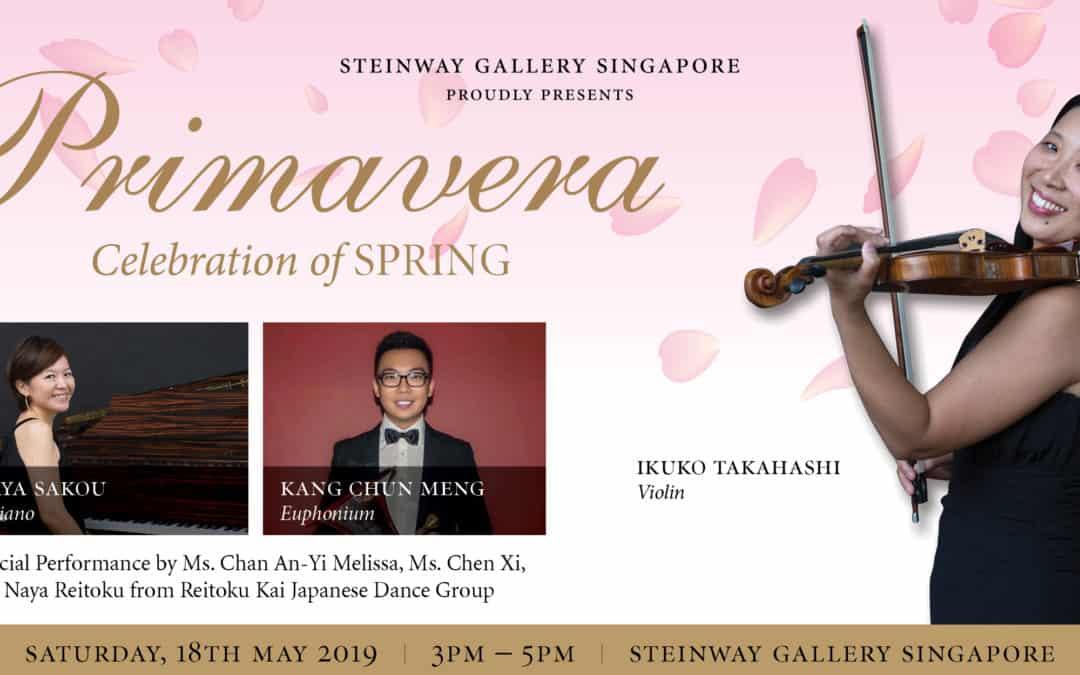 18 March 2019 – Primavera featuring Ikuko Takahashi, Aya Sakou and Kang Chun Meng