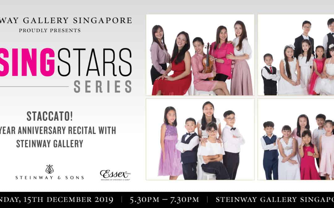 15 December 2019 – Rising Stars Series: STACCATO! 10th Year Anniversary Recital with Steinway Gallery
