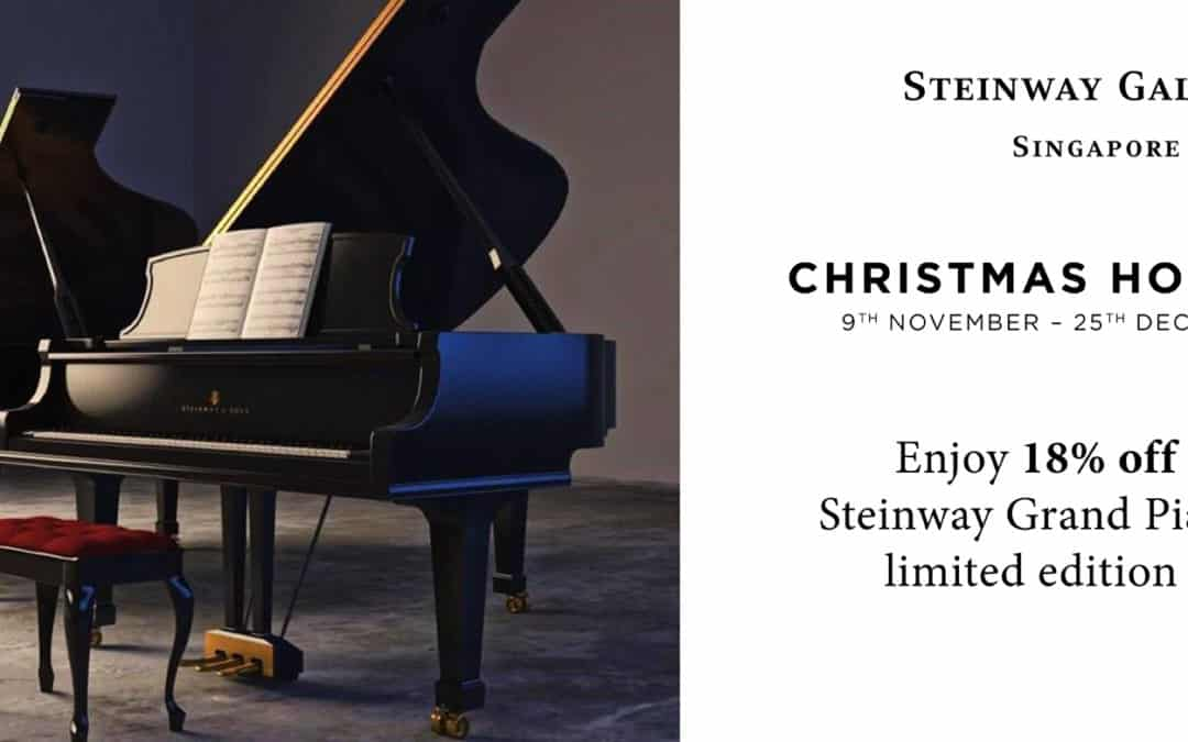 9 Nov – 25 Dec – Steinway Gallery Singapore Christmas Holideals