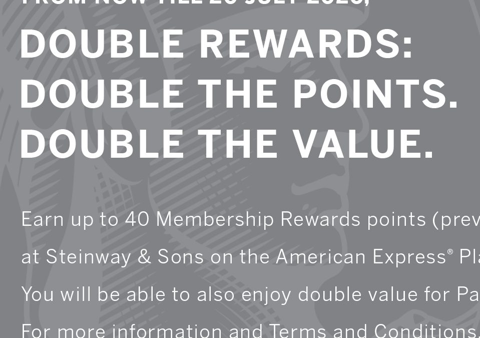 Earn more with AMEX Platinum Charge Card